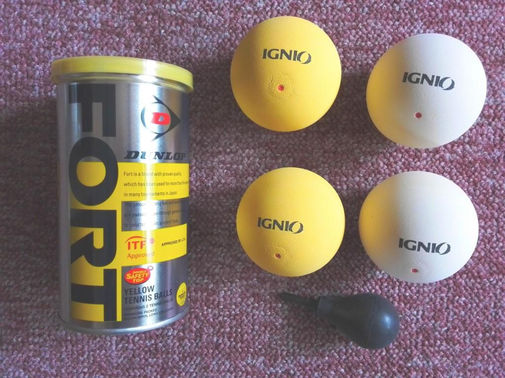 アルペンで購入した硬式と軟式テニスボール