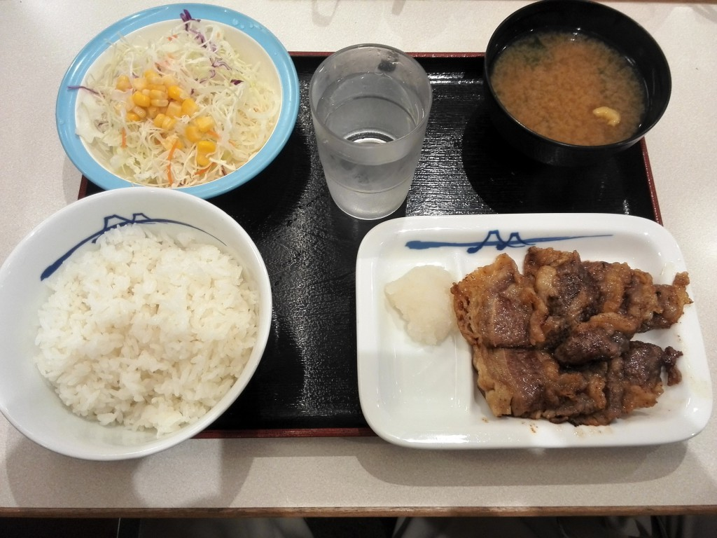 松屋フーズ カルビ焼き肉定食