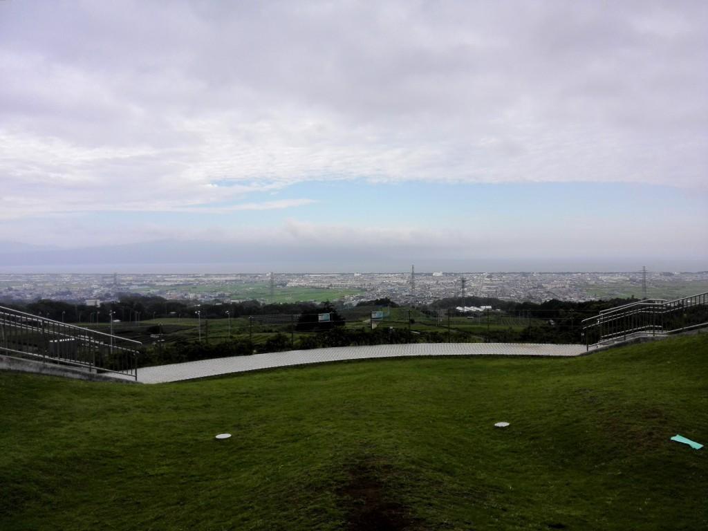 新東名高速道路下り 駿河湾沼津サービスエリア 駿河湾方面の景色