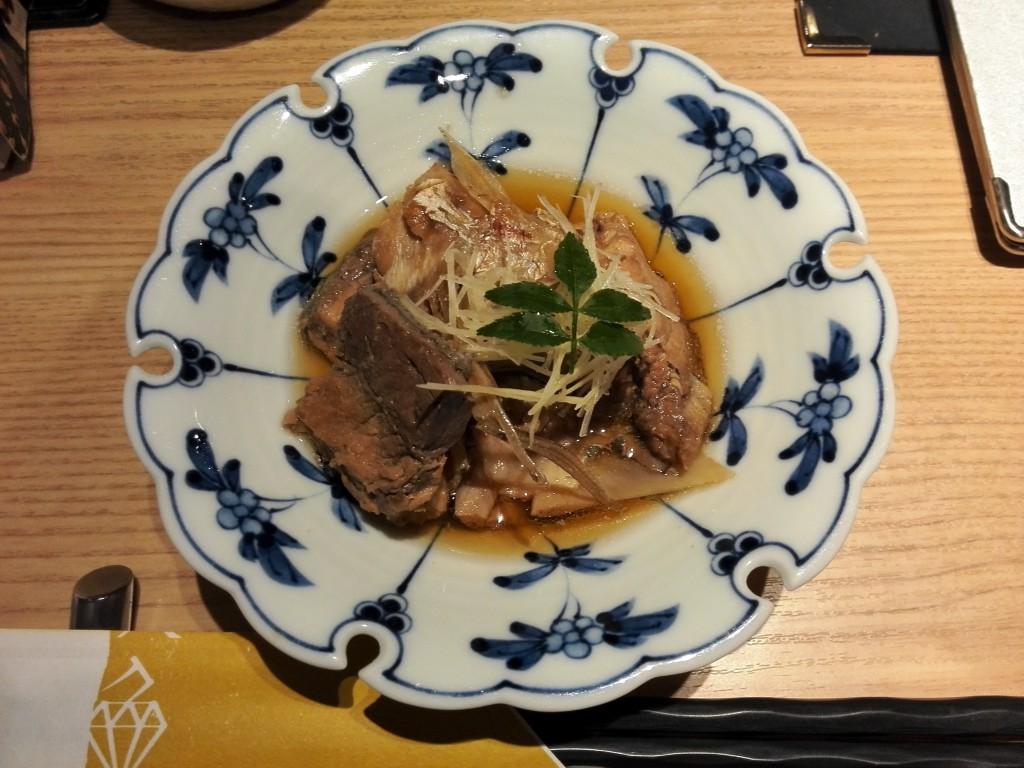 近畿大学水産研究所銀座店 お通しの煮物