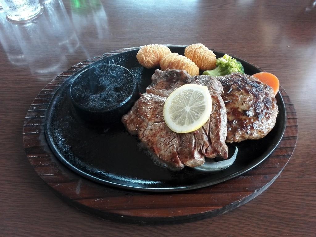 ステーキのあさくま オーストラリア産 燻製バター コンビプレート