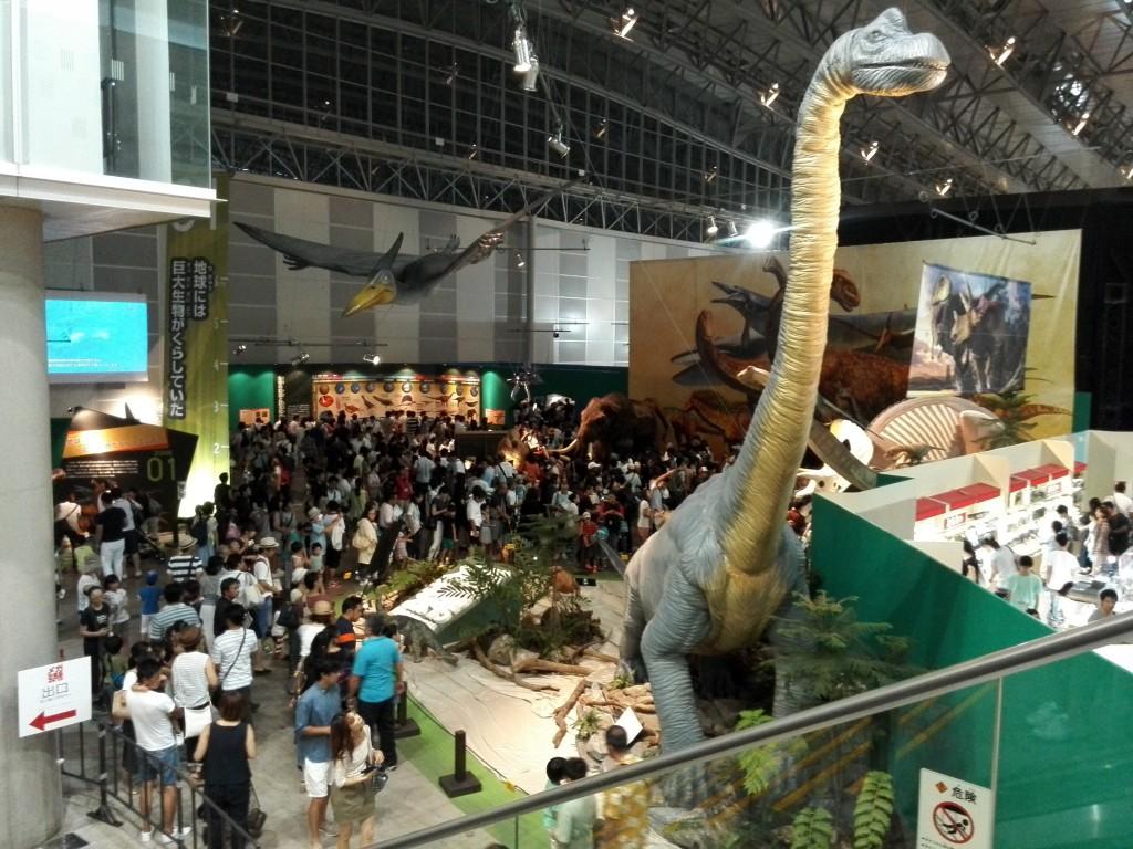 メガ恐竜展2015 会場入り口付近