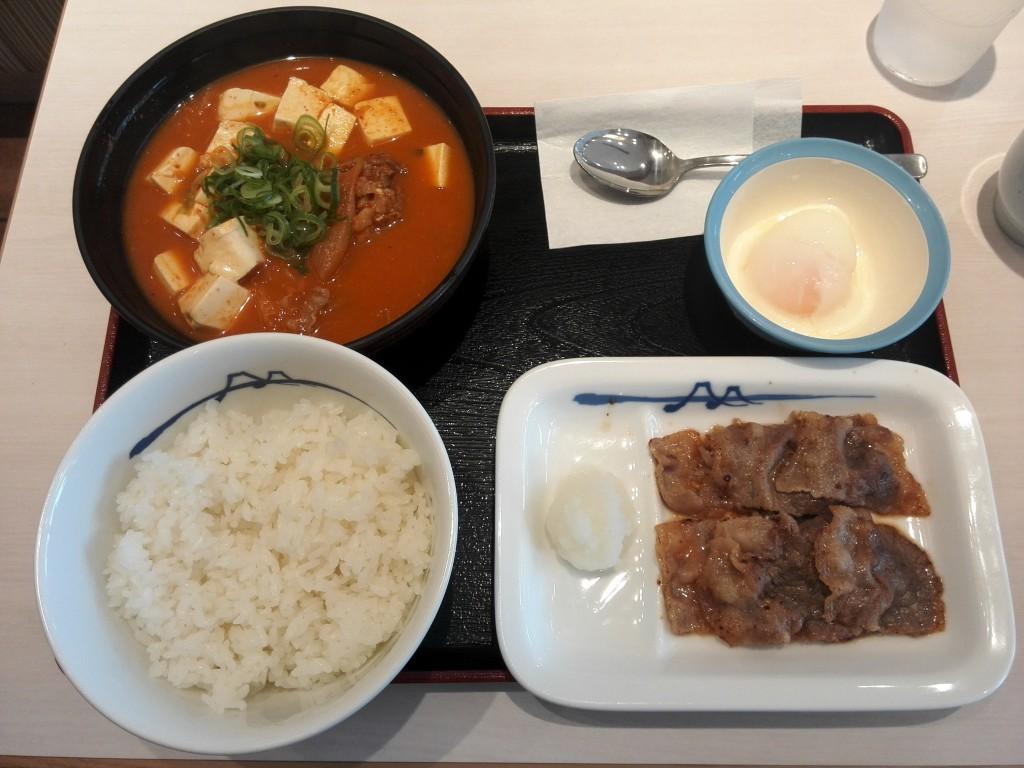 松屋 チゲカルビ焼膳