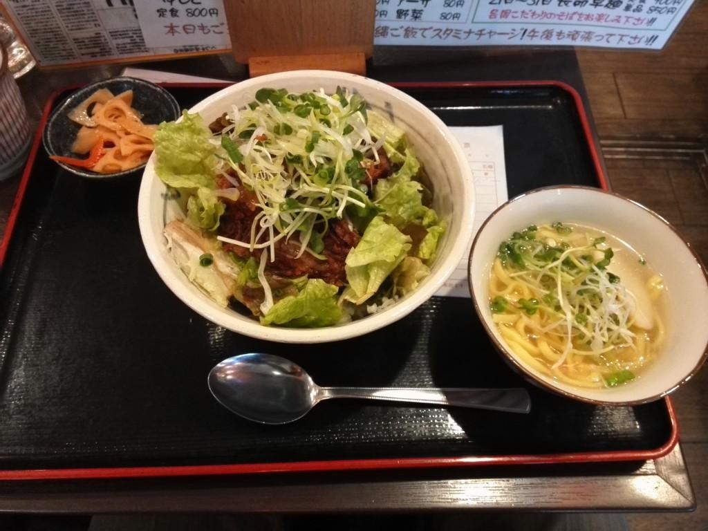 沖縄台所 くわっちー家 ソーキ丼+ミニそばセット