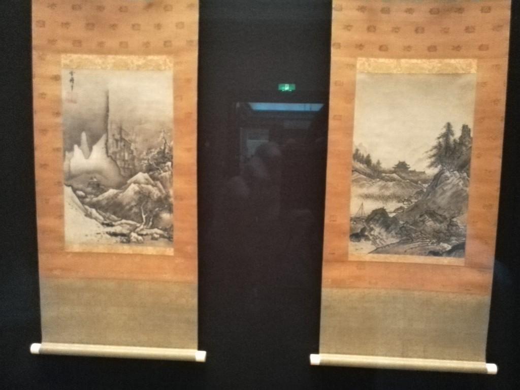 上野国立博物館 雪舟 秋冬山水図