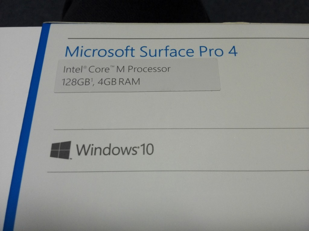 マイクロソフト Surface Pro 4 +Intel Core M Processorモデル