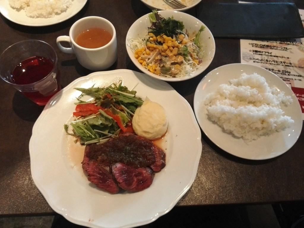 九段下 ビストロ バベット(牛はらみ)ステーキ