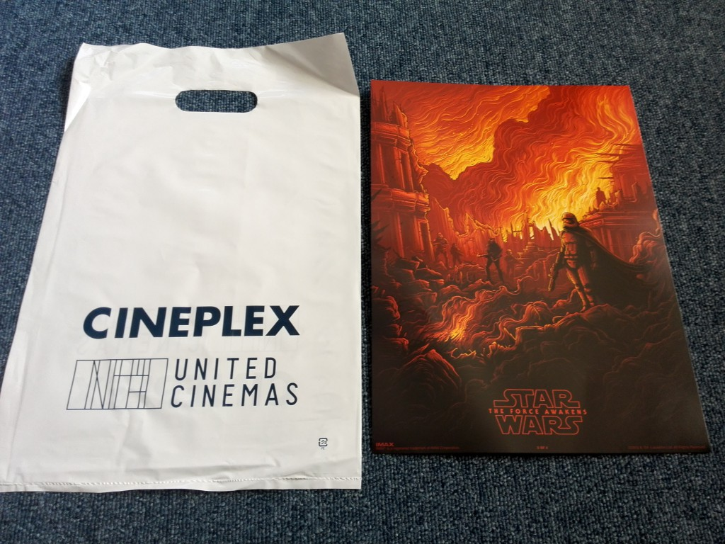 ユナイテッドシネマ豊島園 スター・ウォーズ/フォースの覚醒 IMAX限定ポスター