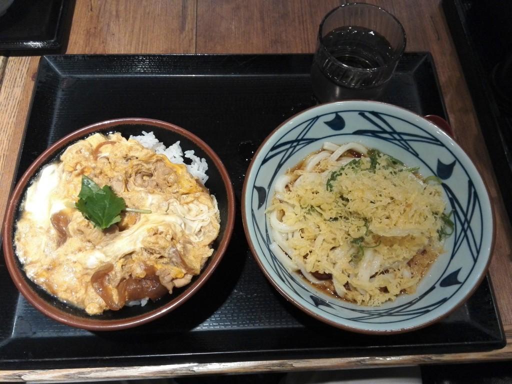 丸亀製麺 親子丼+ぶっかけうどん セット