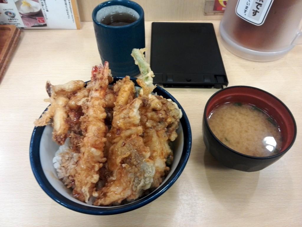 てんや 松茸と海老、秋鮭の秋天丼