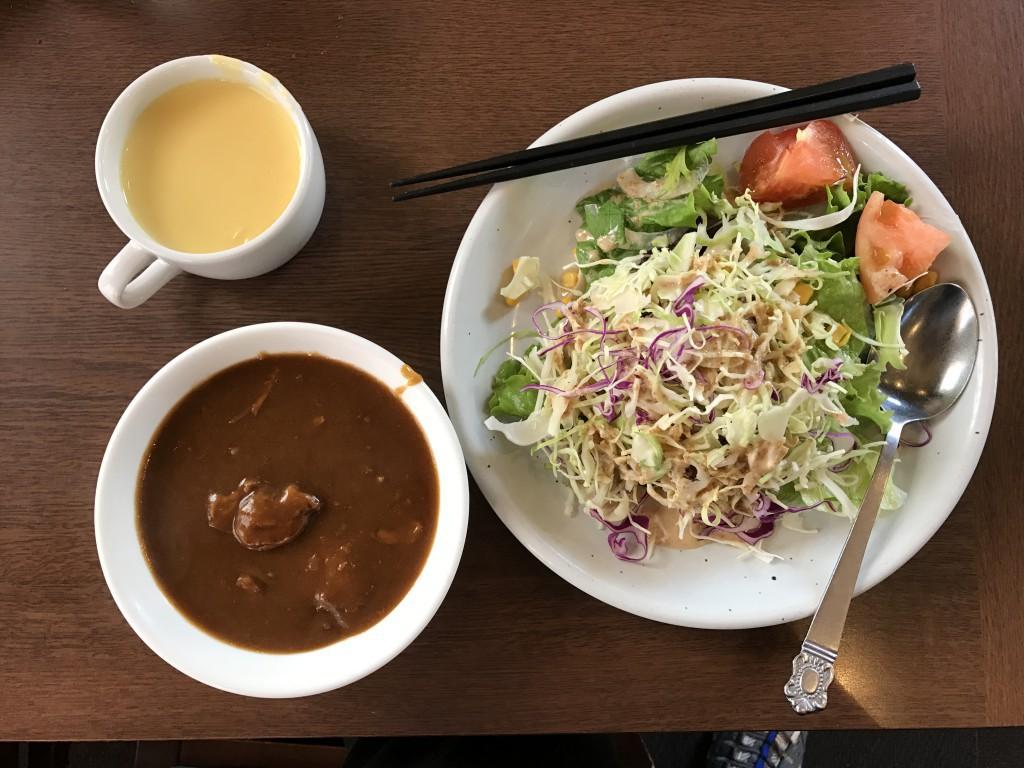 ステーキのあさくま 食べ放題 カレー サラダ コーンスープ