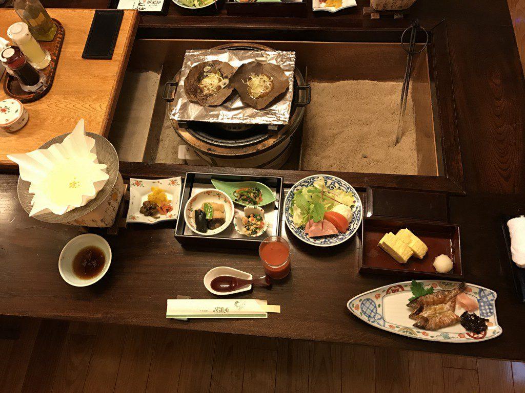 下呂温泉 水鳳園 豪華な朝食