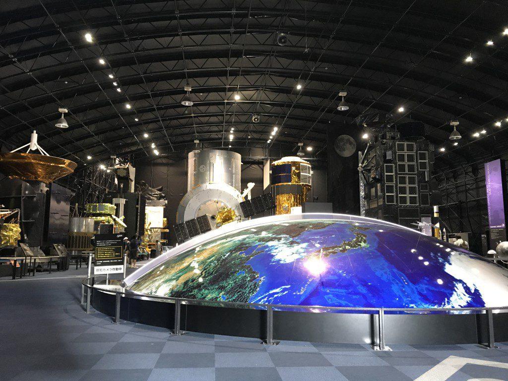 JAXA筑波宇宙センター 展示館スペースドーム内