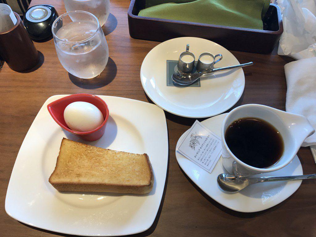 むさしの森珈琲 キリマンジャロと無料のモーニングセット