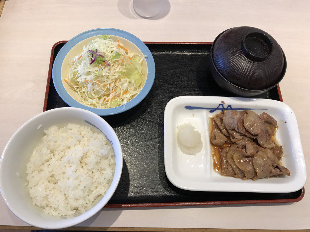 松屋フーズ カルビ焼肉定食
