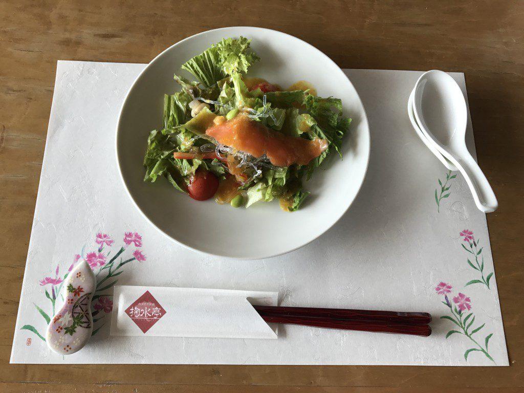 菊水亭レストラン天外天選べるランチ サラダ