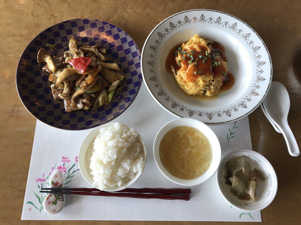 菊水亭レストラン天外天選べるランチ 温菜2品他