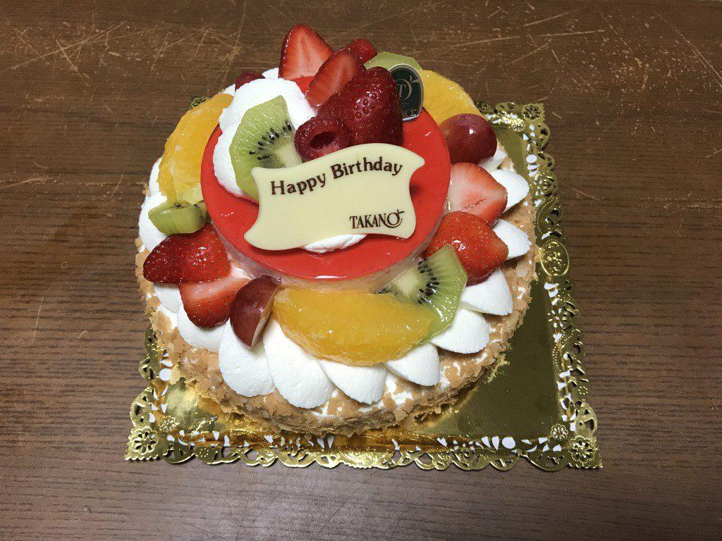 新宿高野 誕生日ケーキ