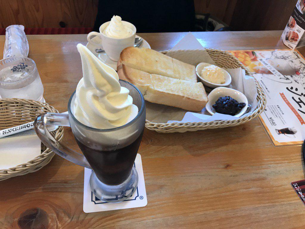 コメダ珈琲 選べるモーニングとクリームコーヒー