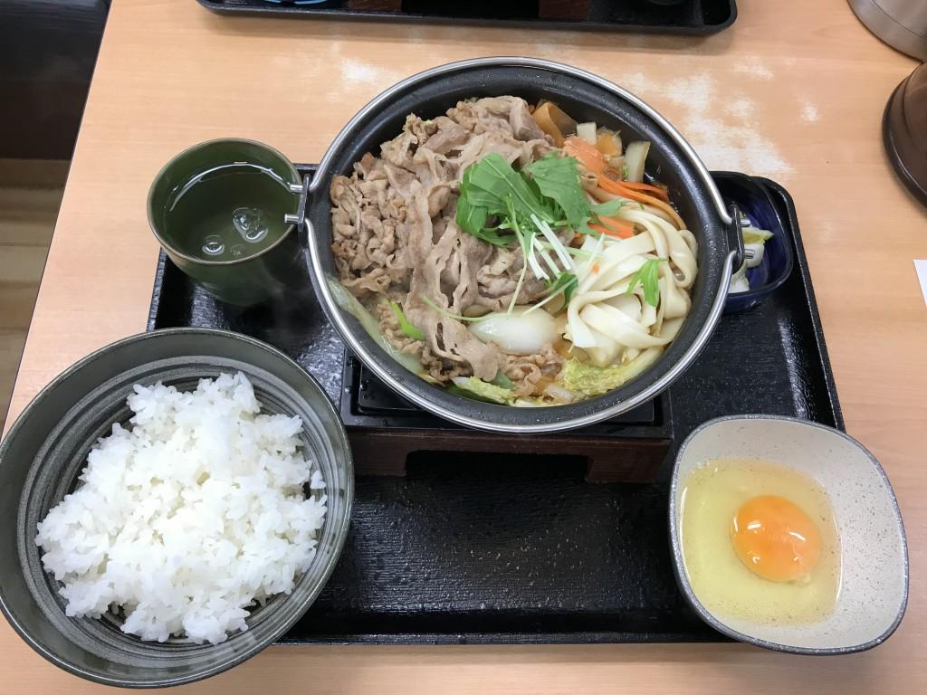 吉野屋 牛すき鍋膳