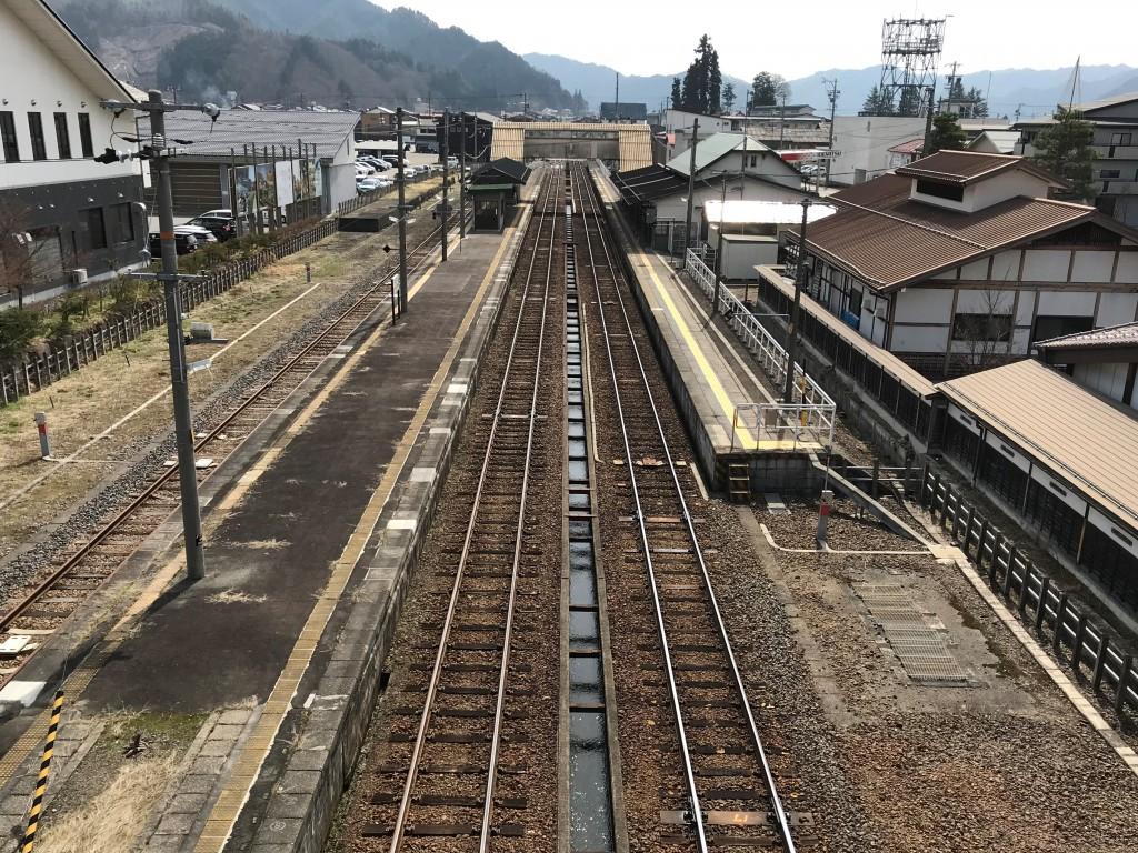 飛騨古川駅付近 跨線橋上