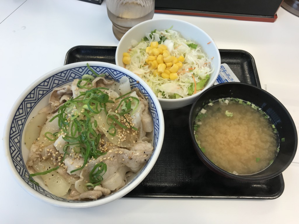吉野家 ねぎ塩豚丼+Aセット