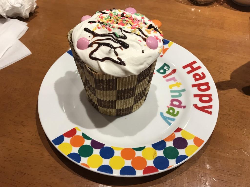 ブロンコビリー 誕生日ケーキ