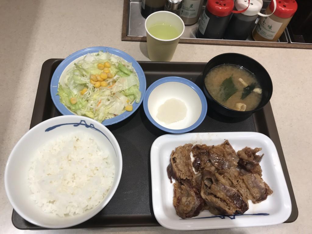 松屋 カルビ増量 カルビ焼肉定食