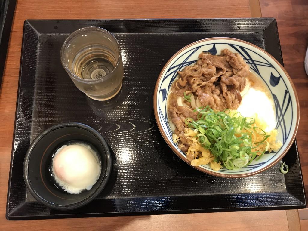 丸亀製麺 牛とろ玉(並)