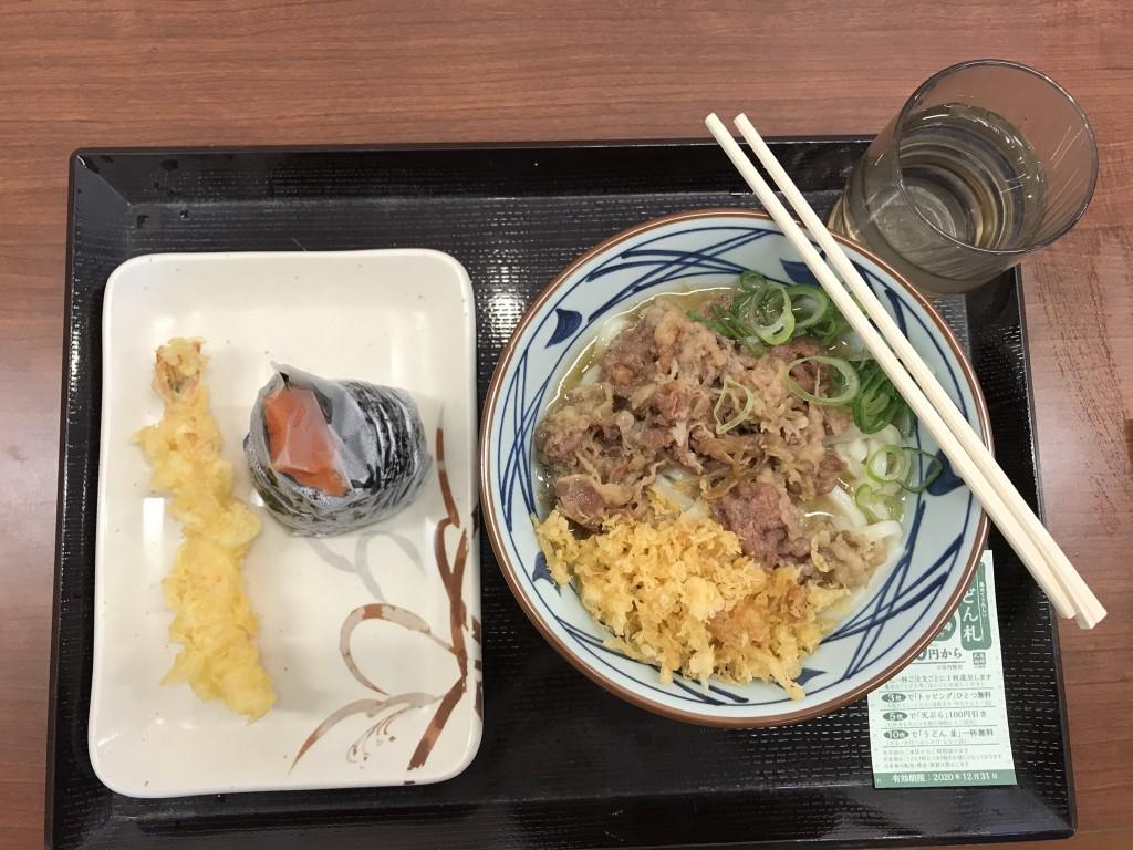 丸亀製麺 肉うどんランチセット